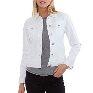 The Limited White cropped Jean Jacket